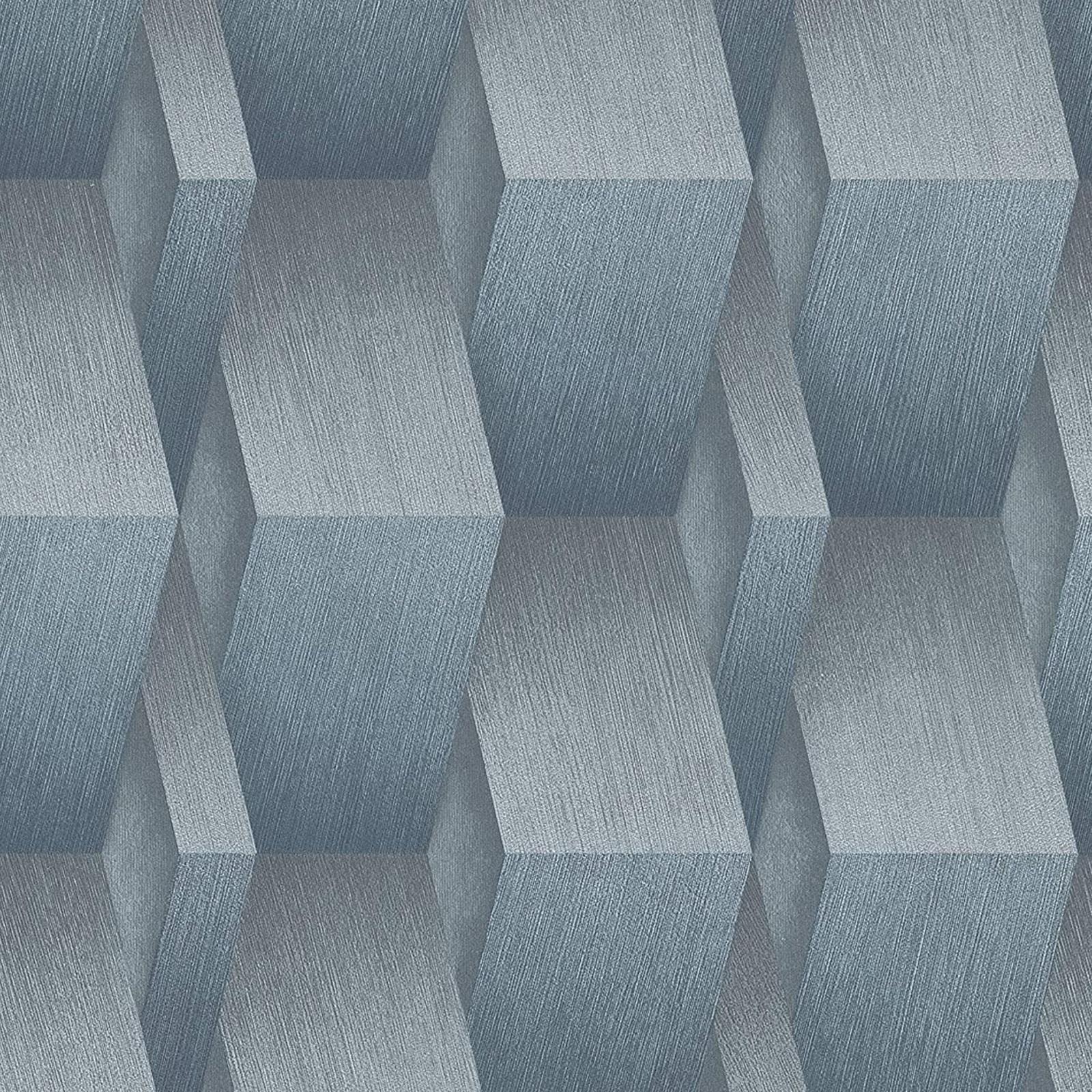 Erismann 3d Effect Geometric Textured Wallpaper Paste The Wall Blue 10046 08 4002790201199 Ebay