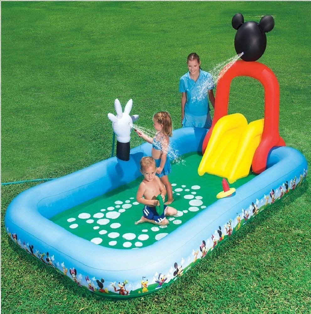 Inflatable Pool Slide Uk: DISNEY MICKEY MOUSE INFLATABLE SPLASH PLAY PADDLING POOL