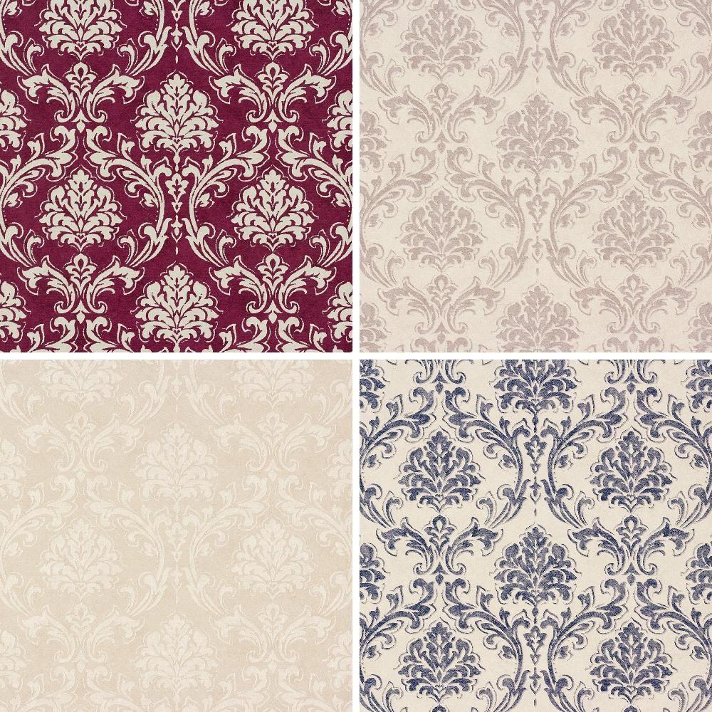 New as creation classic damask pattern fabric motif for Modern vinyl wallpaper