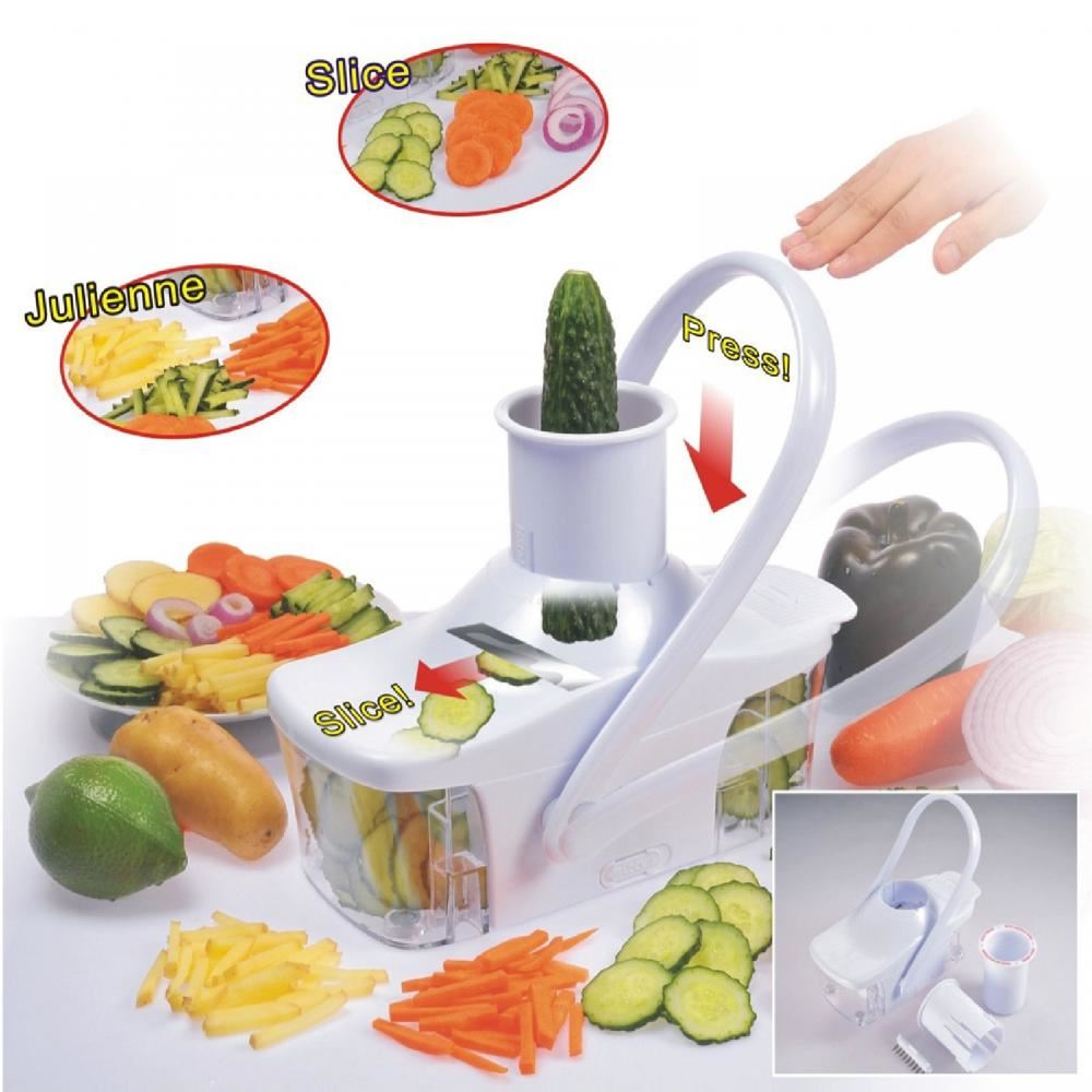 Good Ideas EZ Slice Kitchen Food Slicer Julienne Chopper Vegetable ...