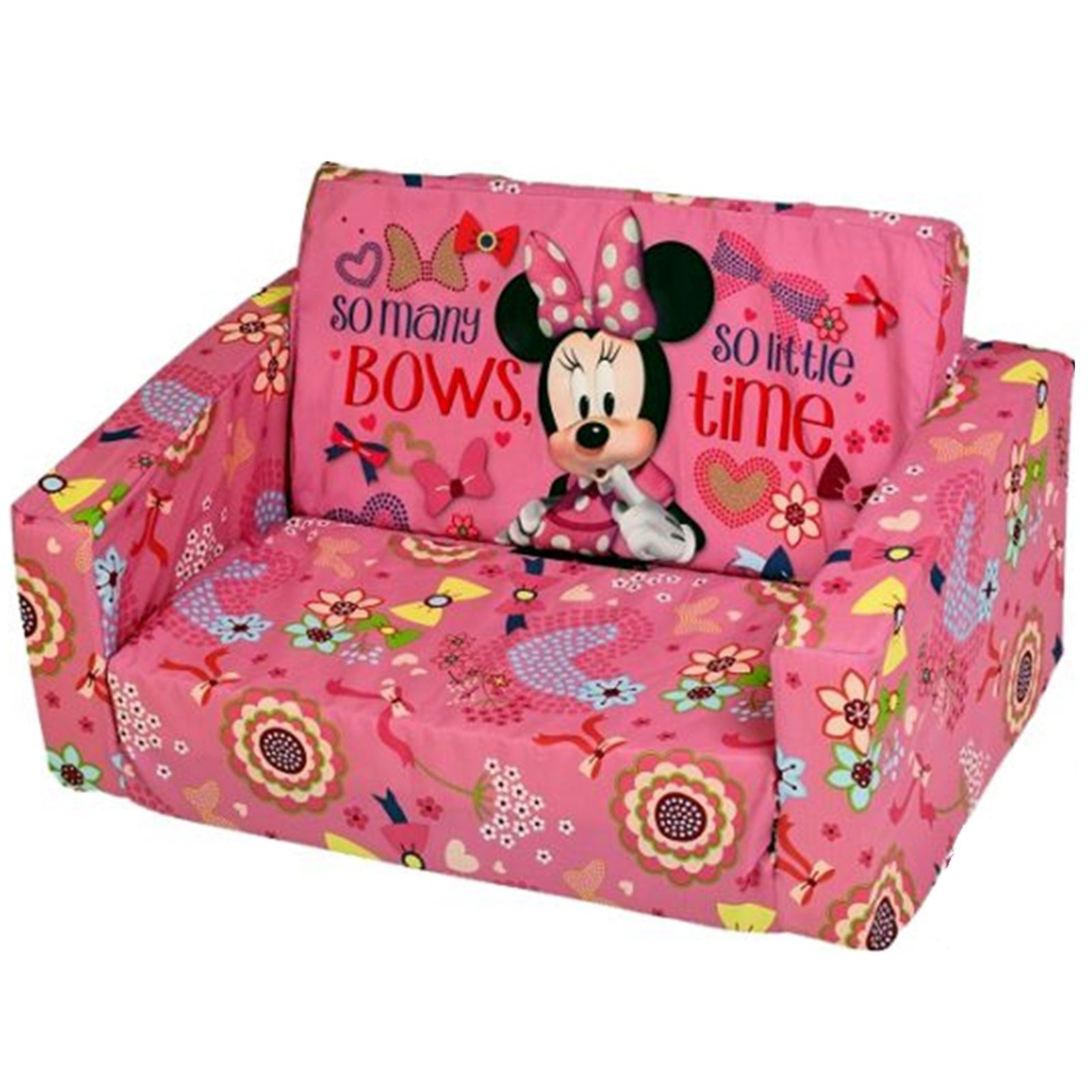 Disney Childrens Flip Out Double Foam Sofa Settee Kids Couch