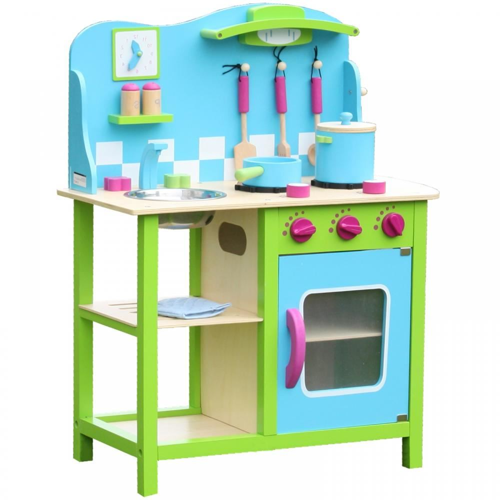 Large Wooden Childrens Kids Kitchen Cooking Role Play Pretend Toy ...