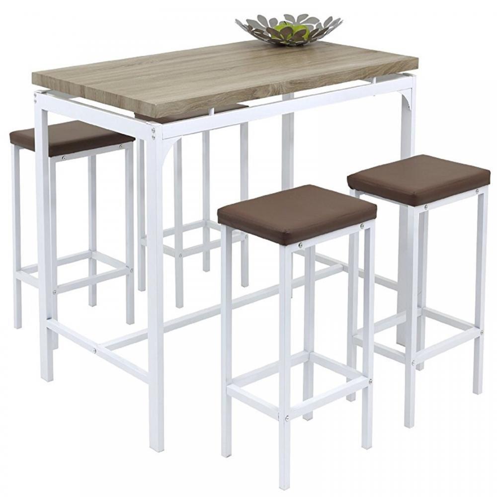 Alto Mostrador barra set 5 Piezas Desayuno mesa y sillas Cocina Pub ...