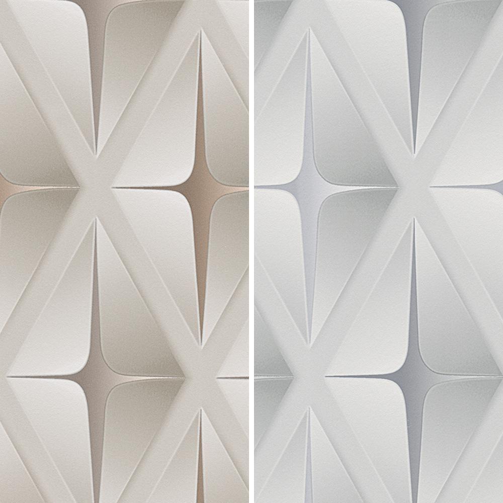 Decorativos 2x A4 Phoenix Marfil papel flocado