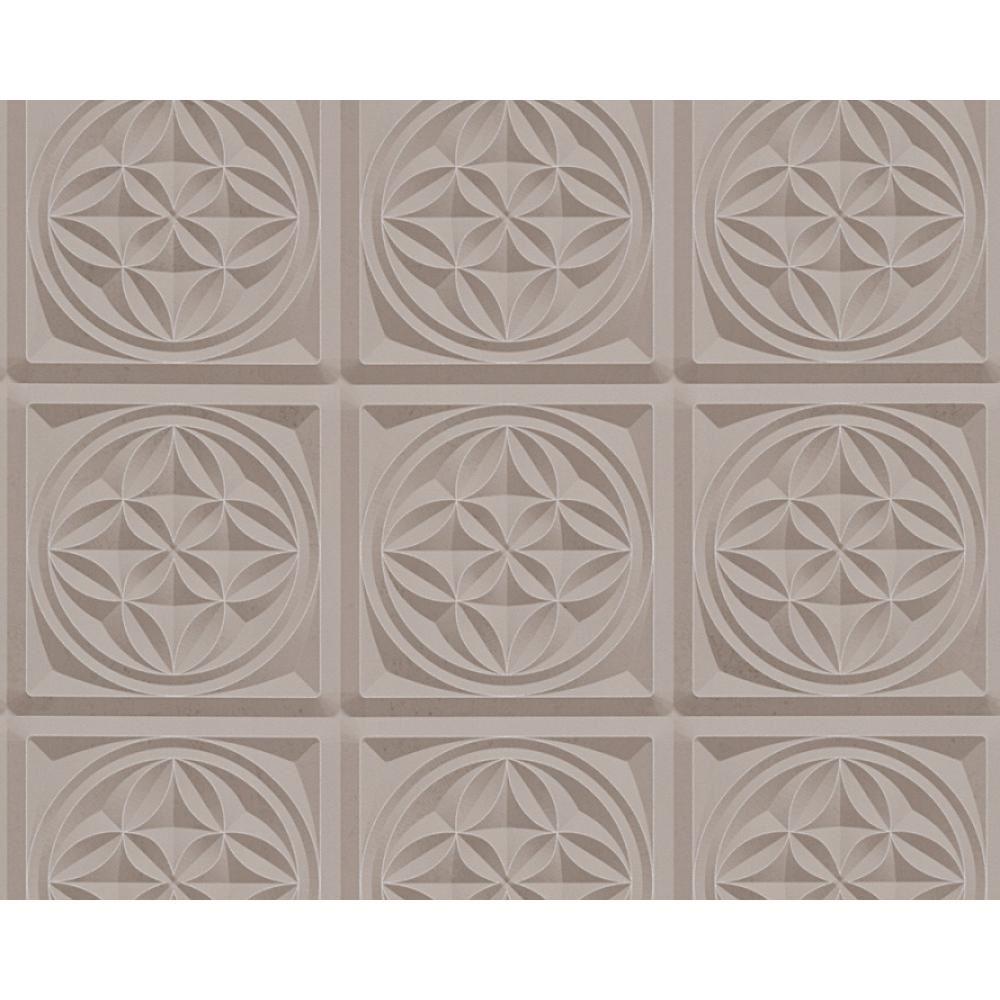 As creation oslo azulejo patr n de papel tapiz efecto for Papel pintado art deco