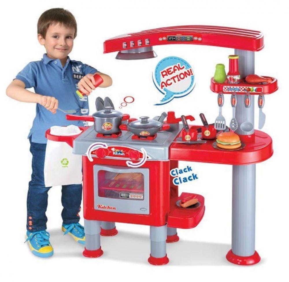 69pc GRANDE BAMBINI CUCINA COTTURA Role Play imitazione giocattolo ...