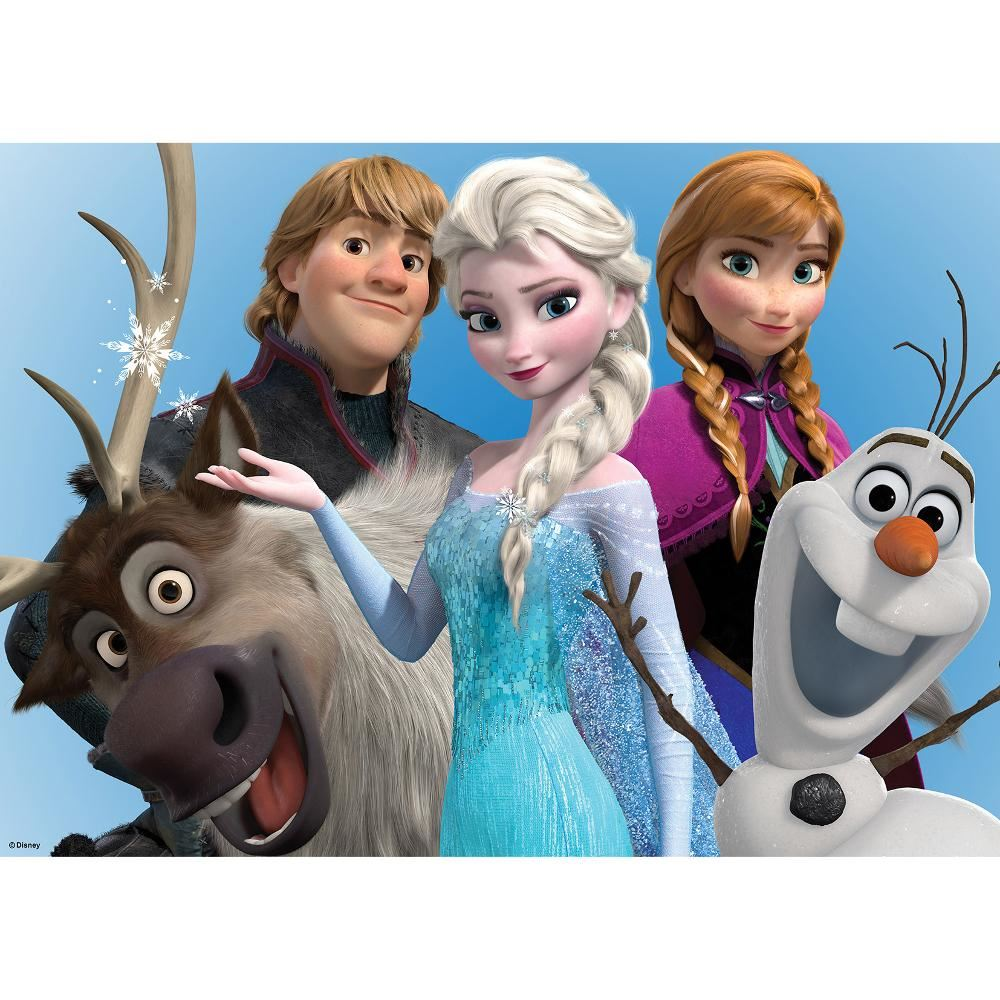 New Official Disney Frozen Elsa Anna Olaf Printed Canvas