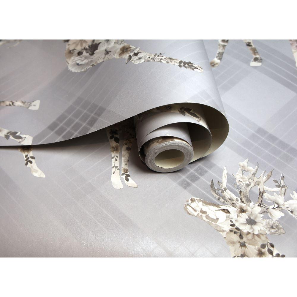 Holden Decor Floral Elk Gris//Beige Papier Peint 90720