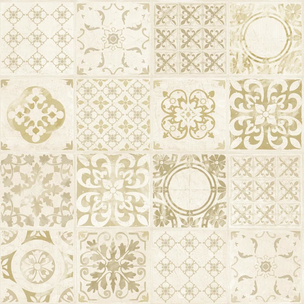 Grandeco Porto Floral Pattern Wallpaper Baroque Motif Kitchen