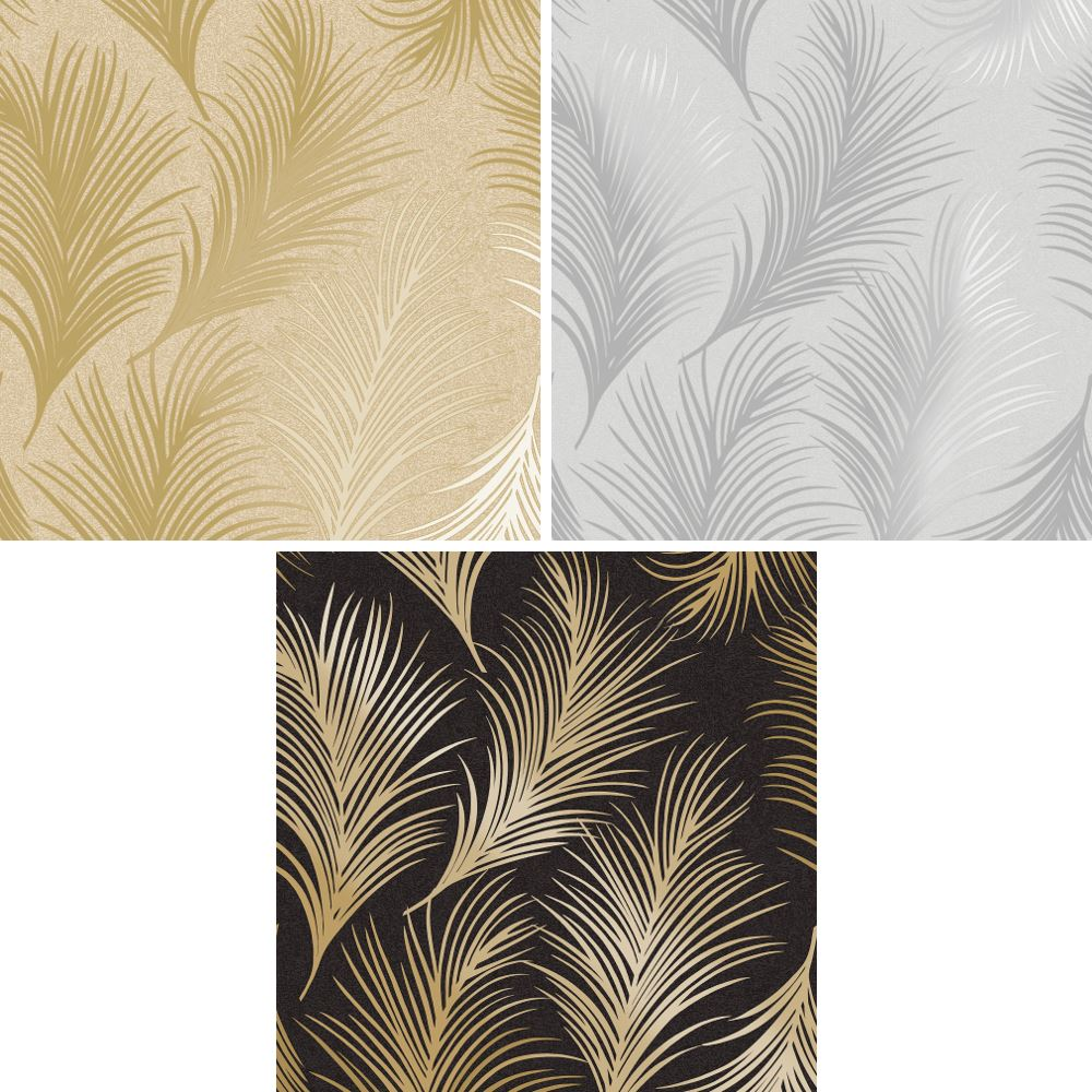 Holden Métallique Plume Motif Papier Peint Feuille Moderne Texturé Exclusif   eBay
