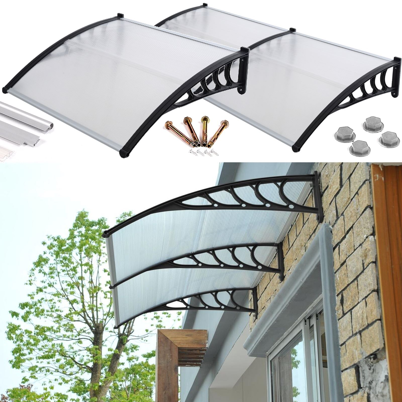 Front door canopy porch rain protector awning lean to roof ...