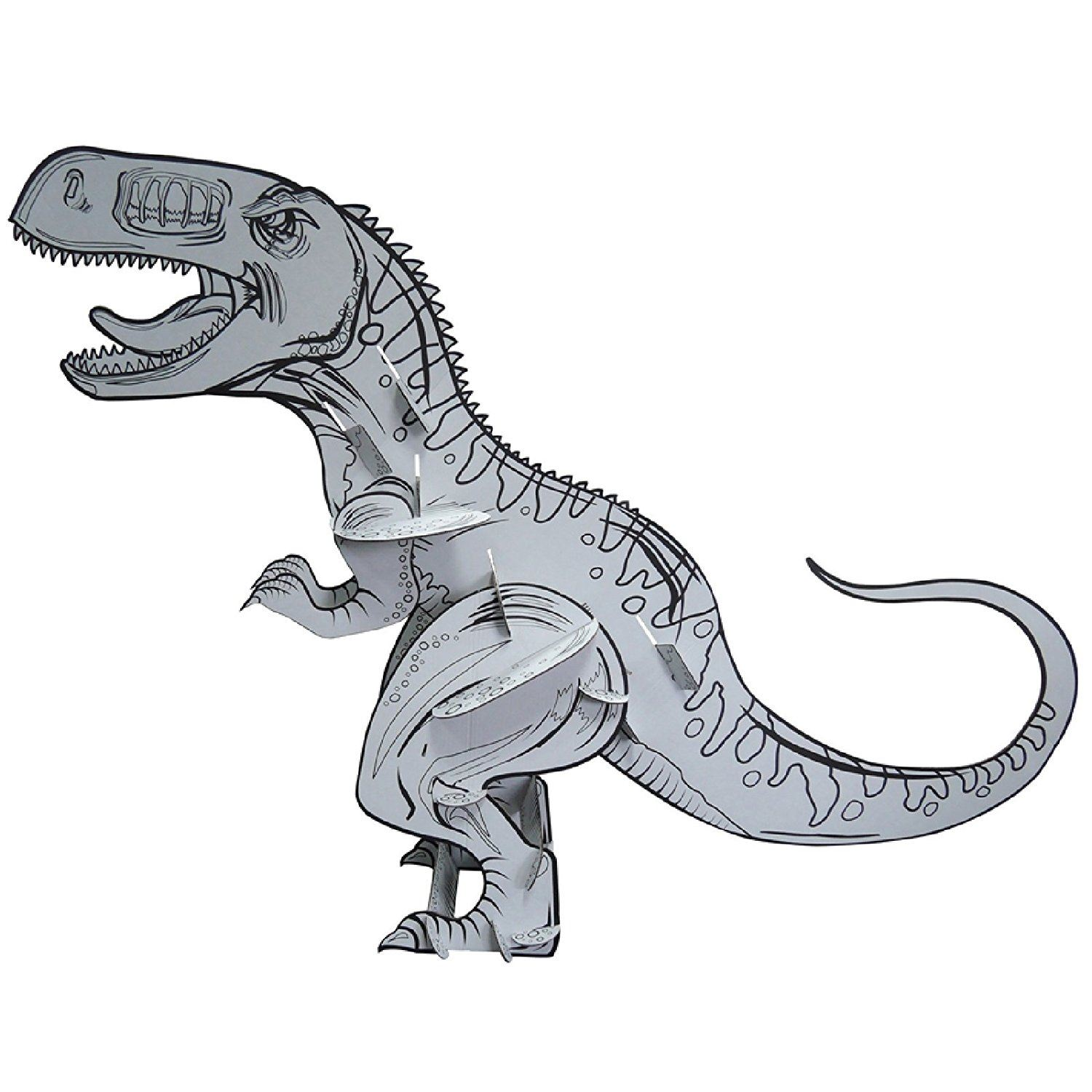 Colour Your Own Large Dinosaur Childrens Kids Cardboard T Rex Toy