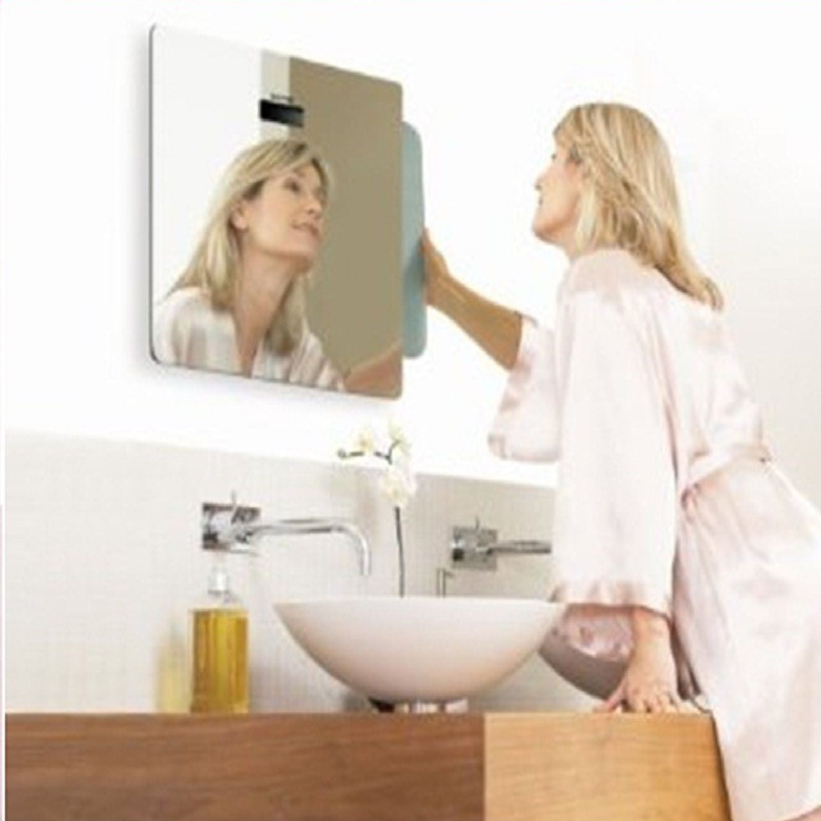 SALTER MIRROR GLASS WEIGHING SCALE LCD DISPLAY CLOCK | eBay