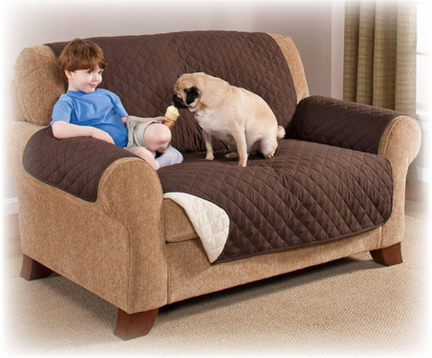 Brown Sofa Protector Slip Throw Cover Dog Cat Pet Water