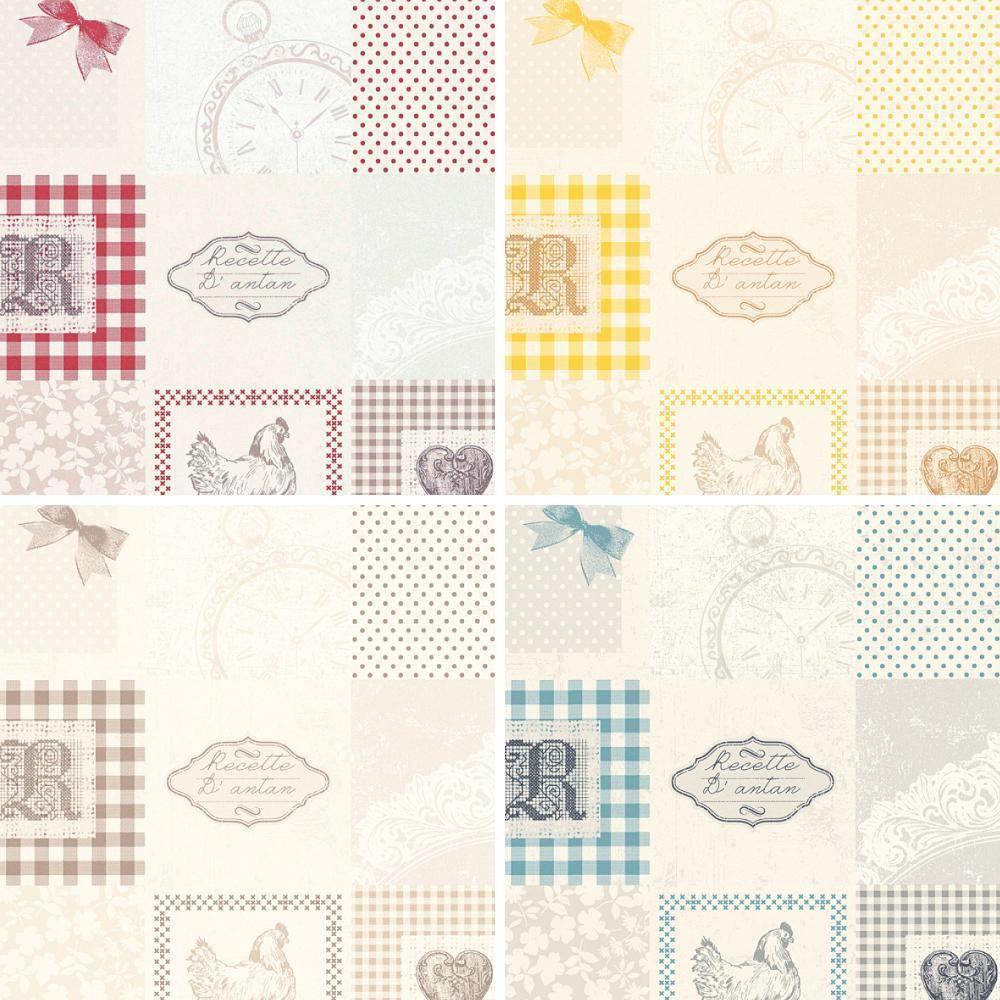 Wallpaper For Kitchen Texture: AS Creation Patchwork Pattern Wallpaper Kitchen Tartan