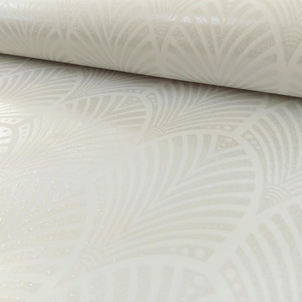 Holden Gatsby Arc Motif Papier Peint Art Deco Retro Argente Brillant