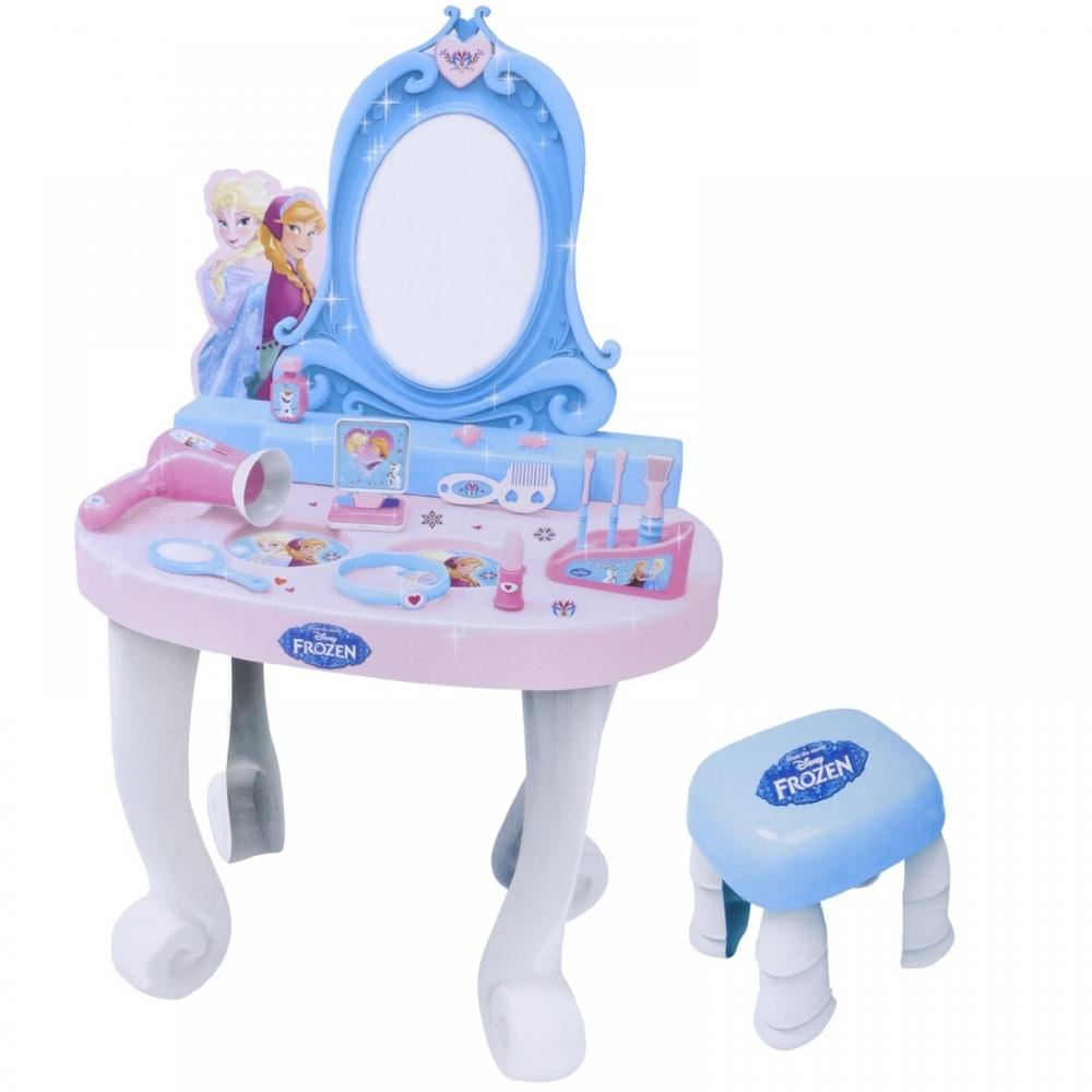Disney Frozen Dressing Table Vanity Mirror Play Set Toy Make Up Desk With Stool Ebay