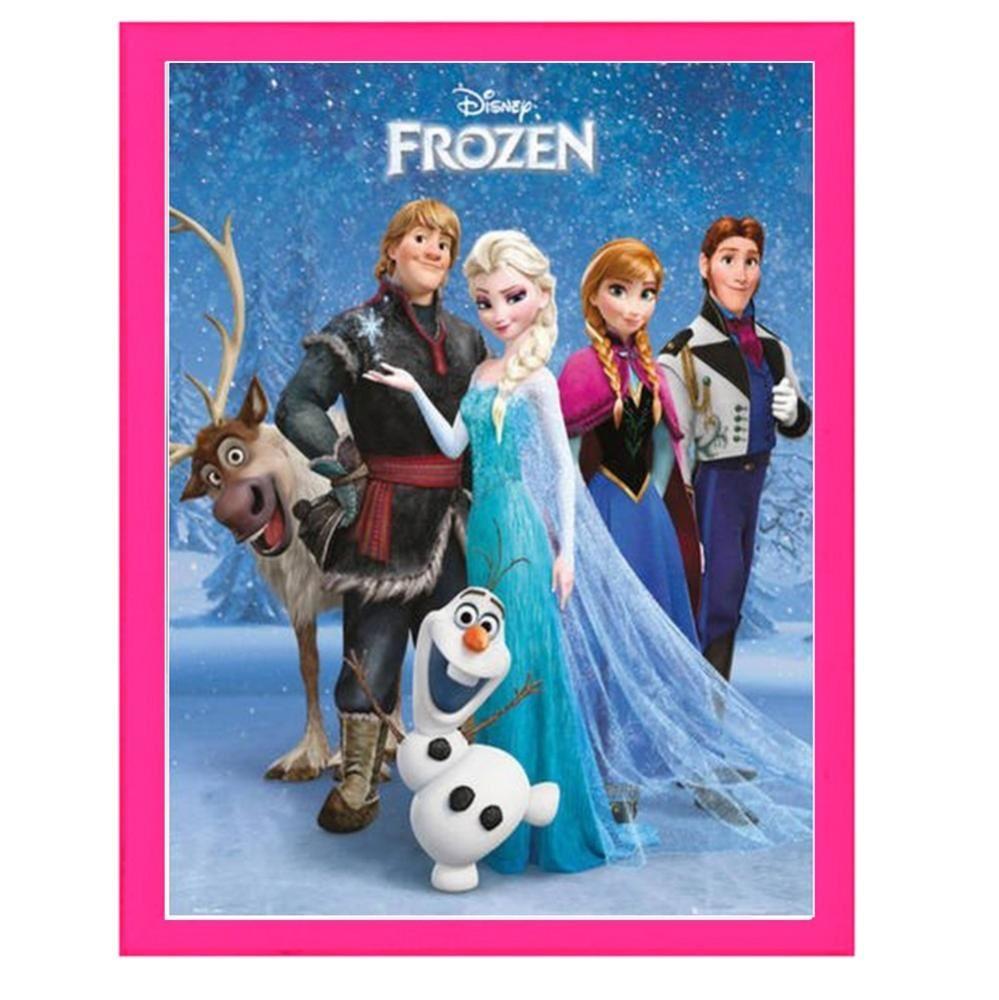 Disney Frozen Elsa Anna Olaf Girls Hanging Pink Photo