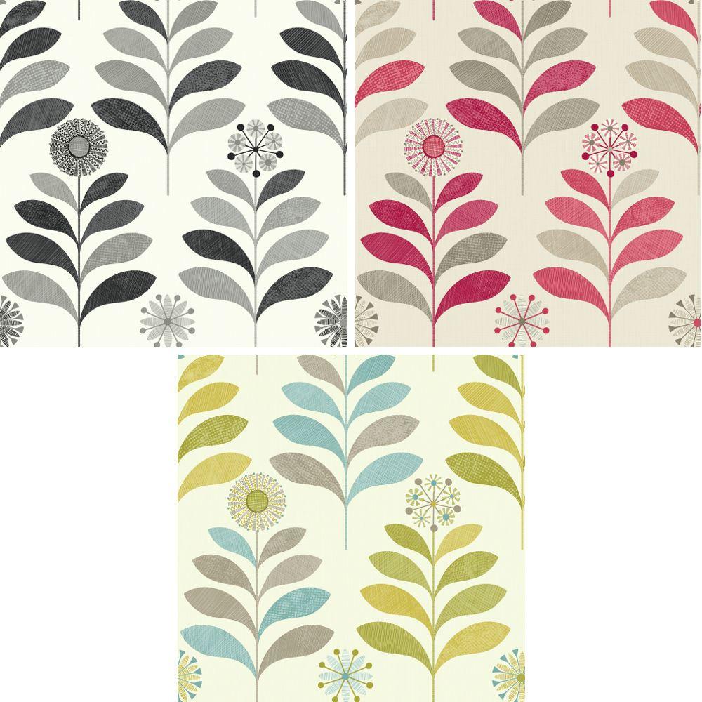 New Arthouse Tamara Leaf Pattern Wallpaper Metallic Leaves