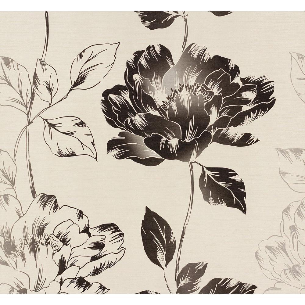 NEW AS CREATION PURE FLORAL PATTERN FLOWER LEAF MOTIF TEXTURED VINYL WALLPAPER