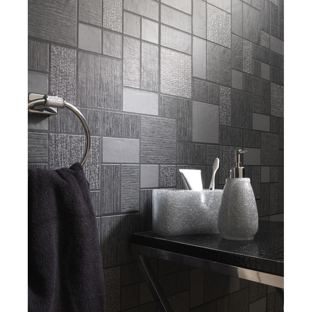 Salle De Bain Motif détails sur nouveau motif carreau décor holden paillettes motif papier  peint vinyle salle de bain cuisine- afficher le titre d'origine