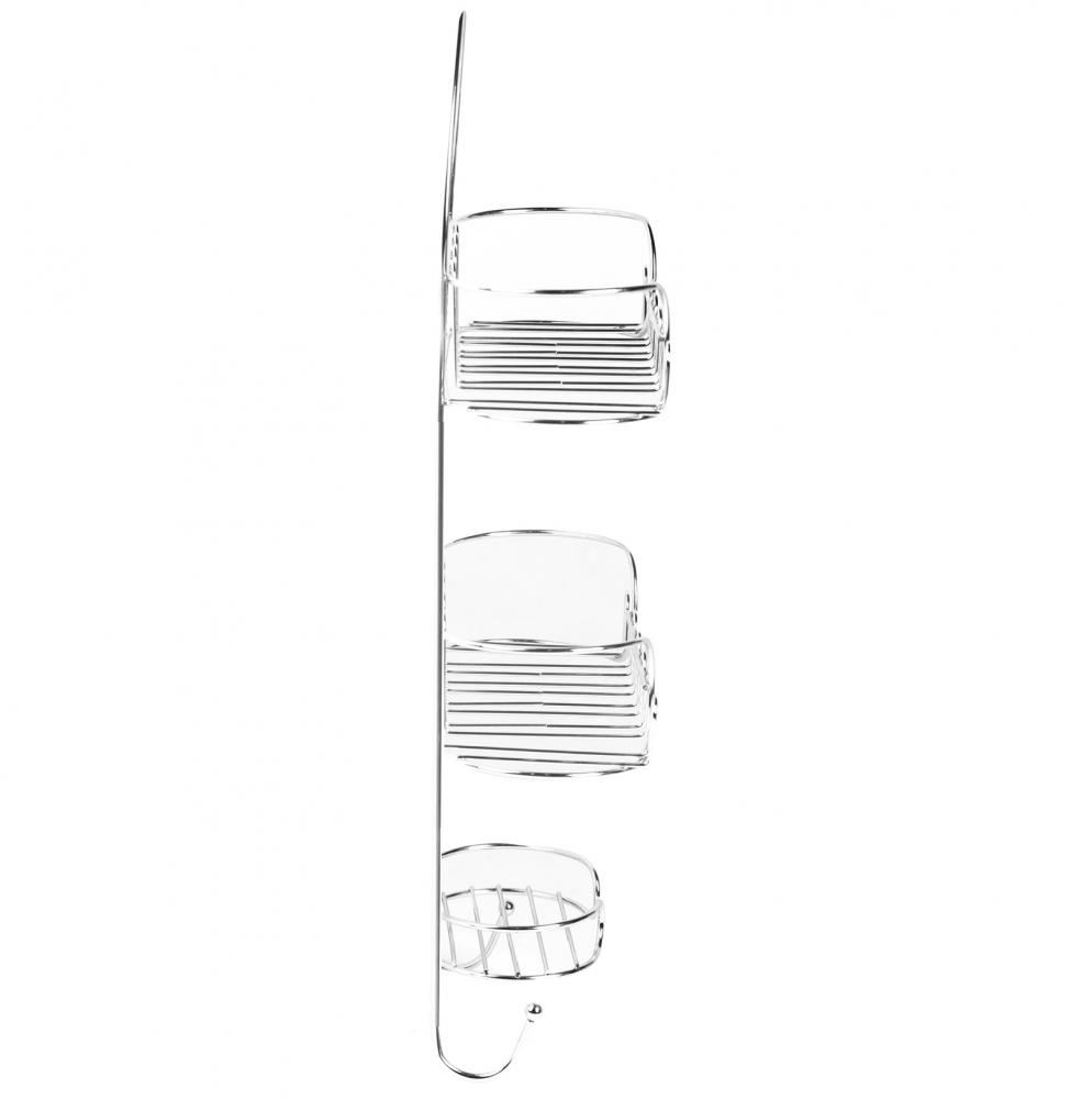 Cromado De Metal Para Colgar Rectangular Esquina Carrito Ducha