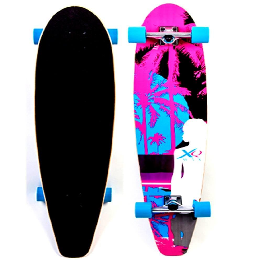 xq max longboard cruiser long skate board skateboard beach. Black Bedroom Furniture Sets. Home Design Ideas
