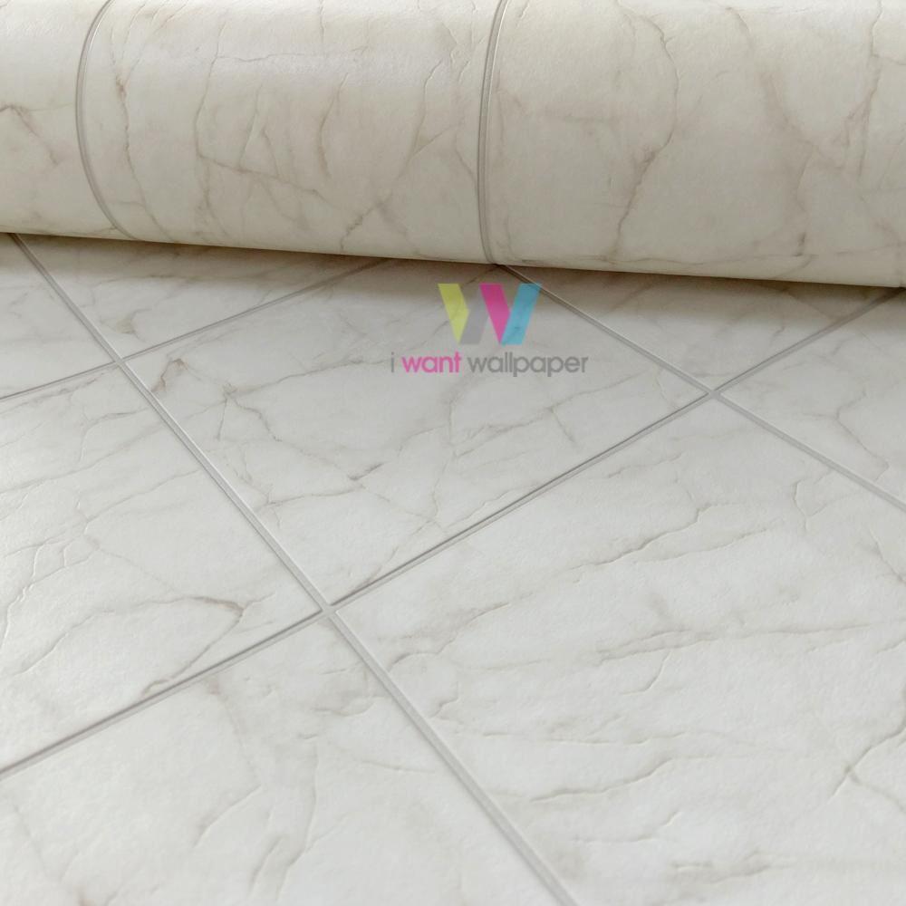 Rasch marmo piastrella carta da parati realistico bagno for Rotolo carta parati