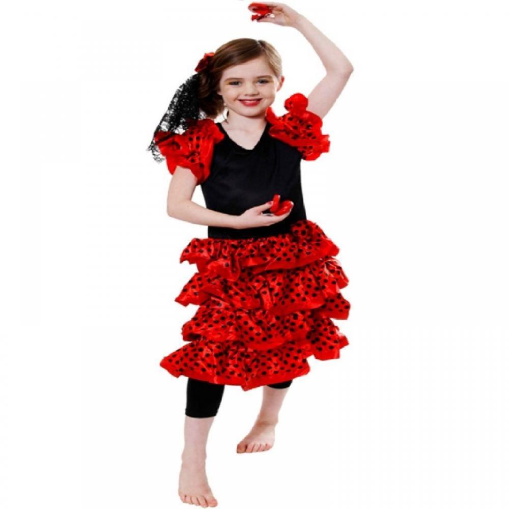 Boys Girls Childrens Kids Clearance Halloween Party Fancy Dress Flamenco