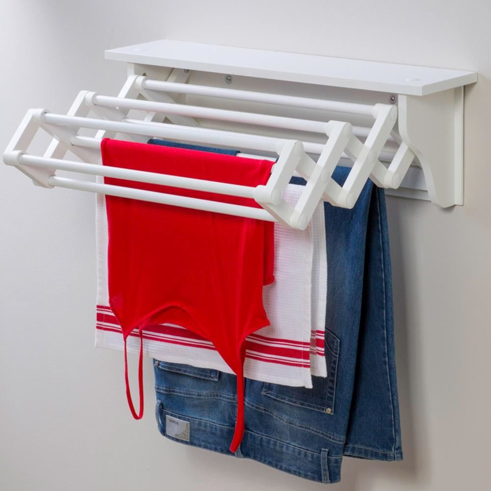 Wall Mounted Laundry Dryer Expandable Clothes Airer Drying