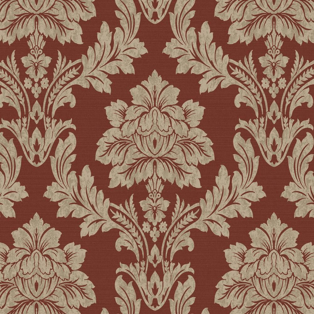 luxury damask design wallpaper modern floral pattern feature wall