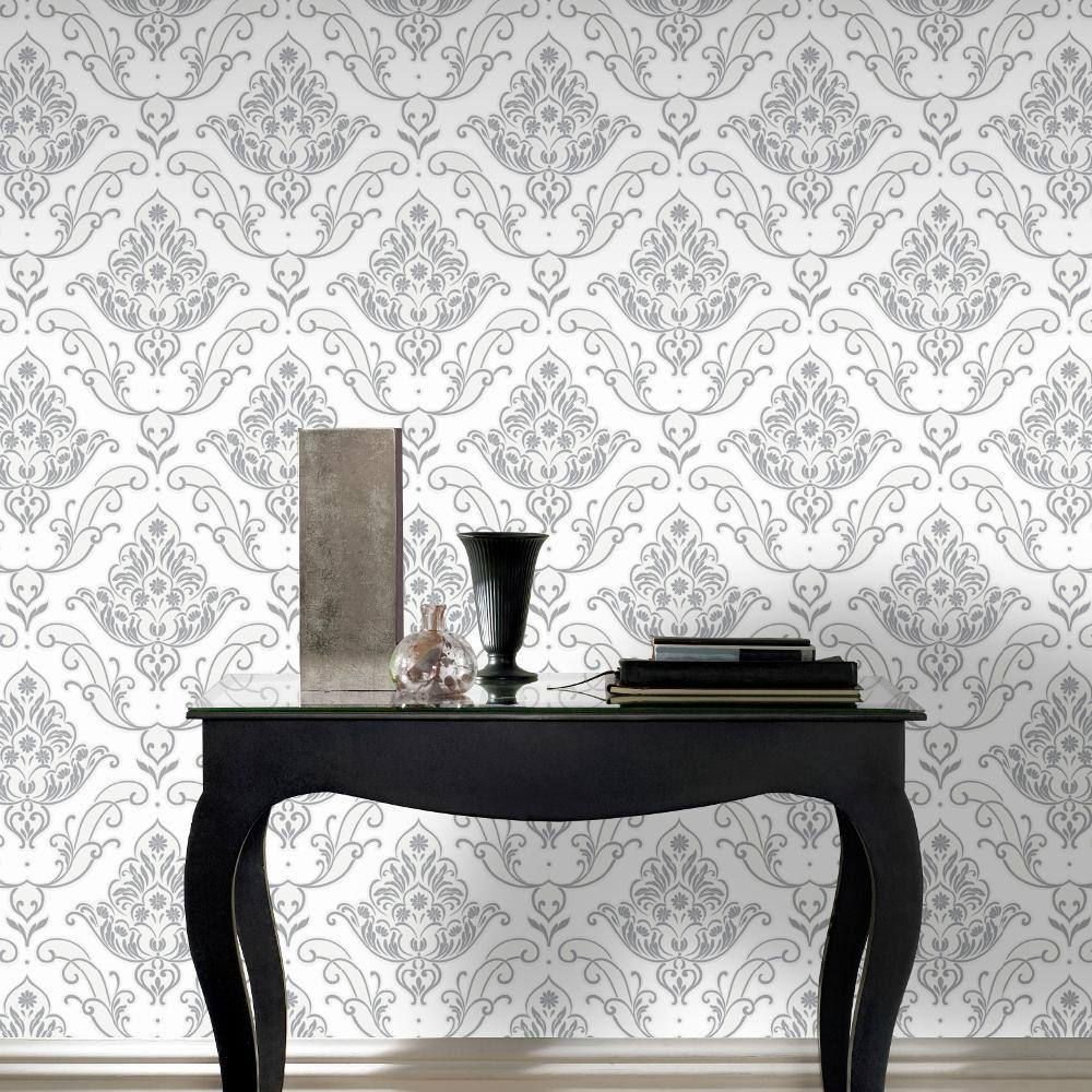 Nouveau Rasch Gatsby Motif Damas Floral Paillete Papier Peint