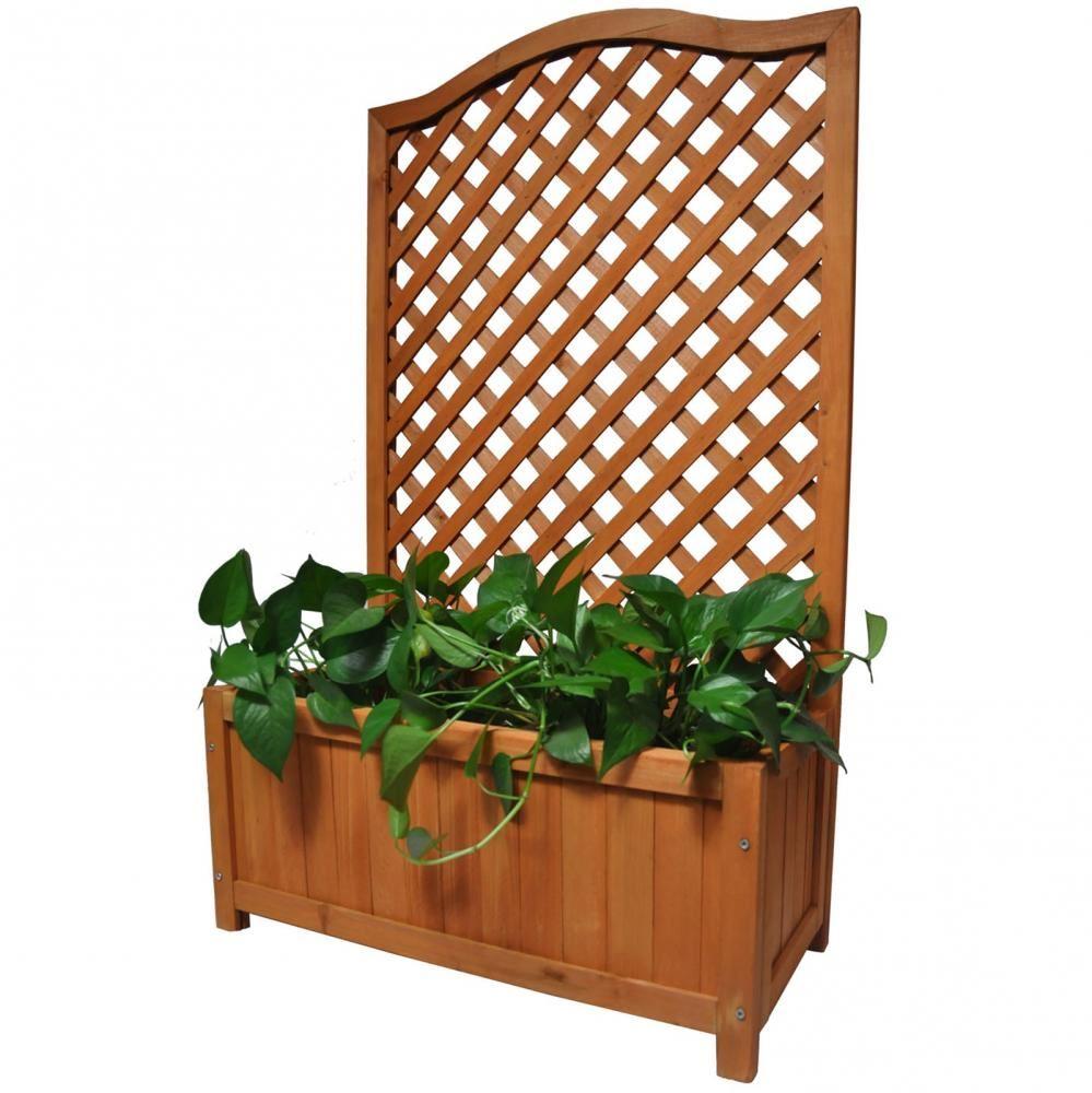 Fabriquer Treillis Bois Pour Plantes Grimpantes détails sur en bois plante avec treillis pour vines jardin grimpant fleur  pot