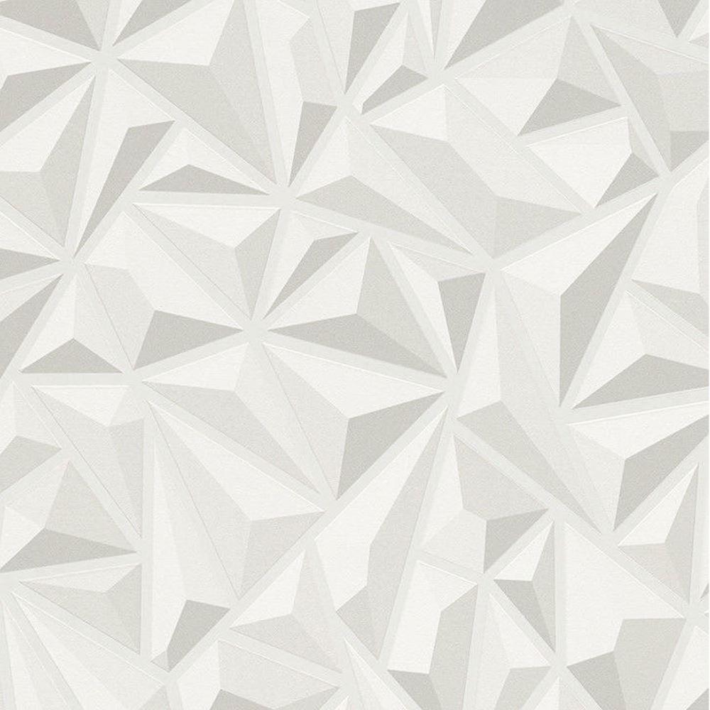 Erismann Geometric Triangle Pattern Wallpaper 3d Effect