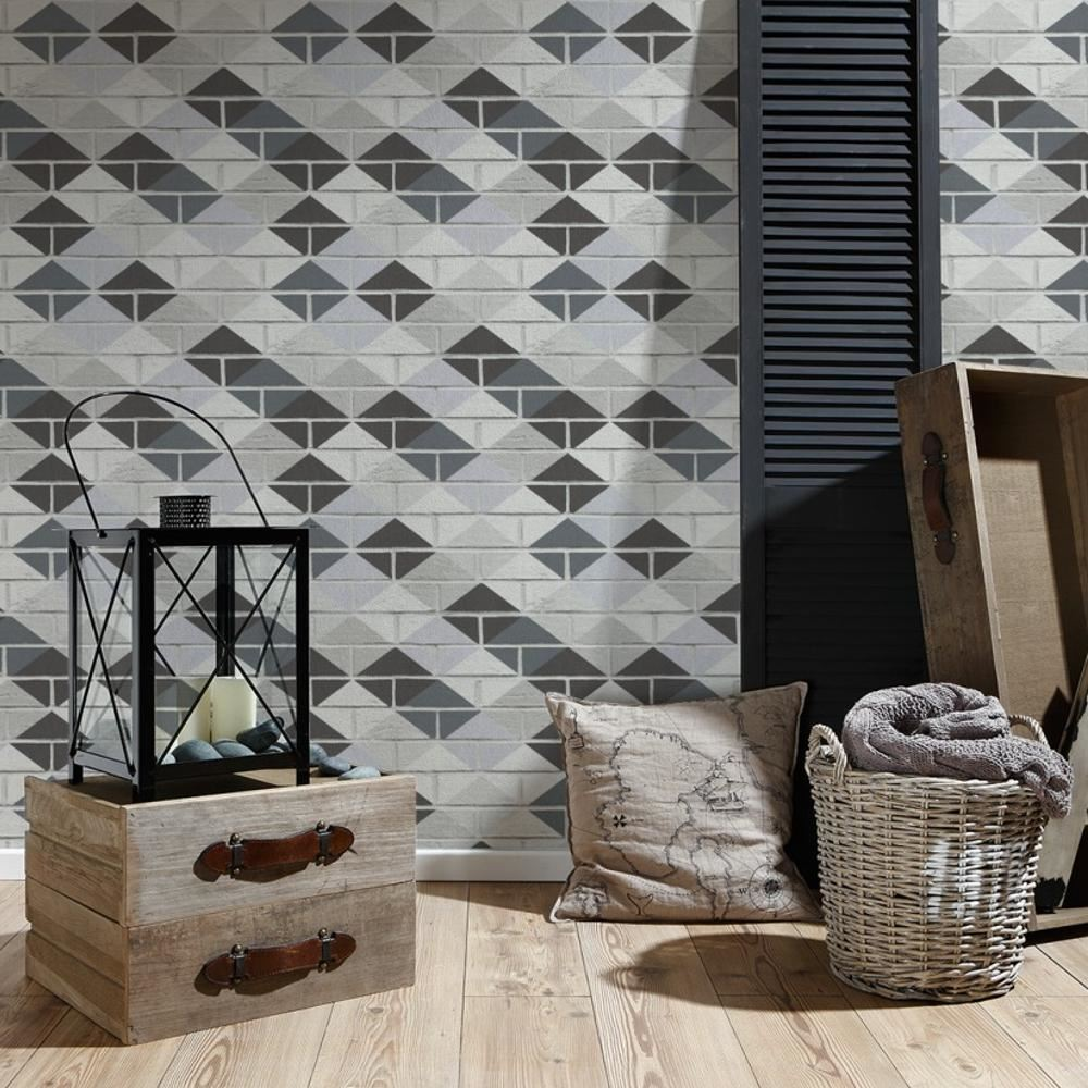 Wallpaper For Kitchen Texture: AS Creation Brick Pattern Wallpaper Kitchen Bathroom