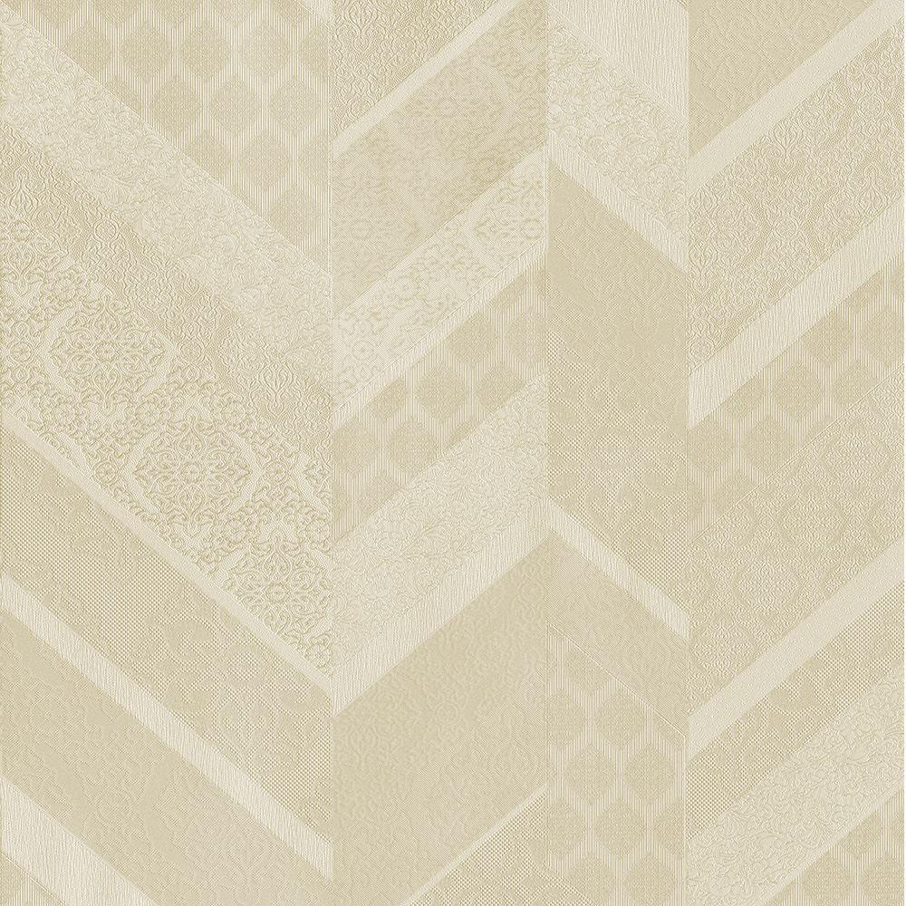 P/&S International Stripe Ornament Metallic Geometric Detail Wallpaper 02534-30