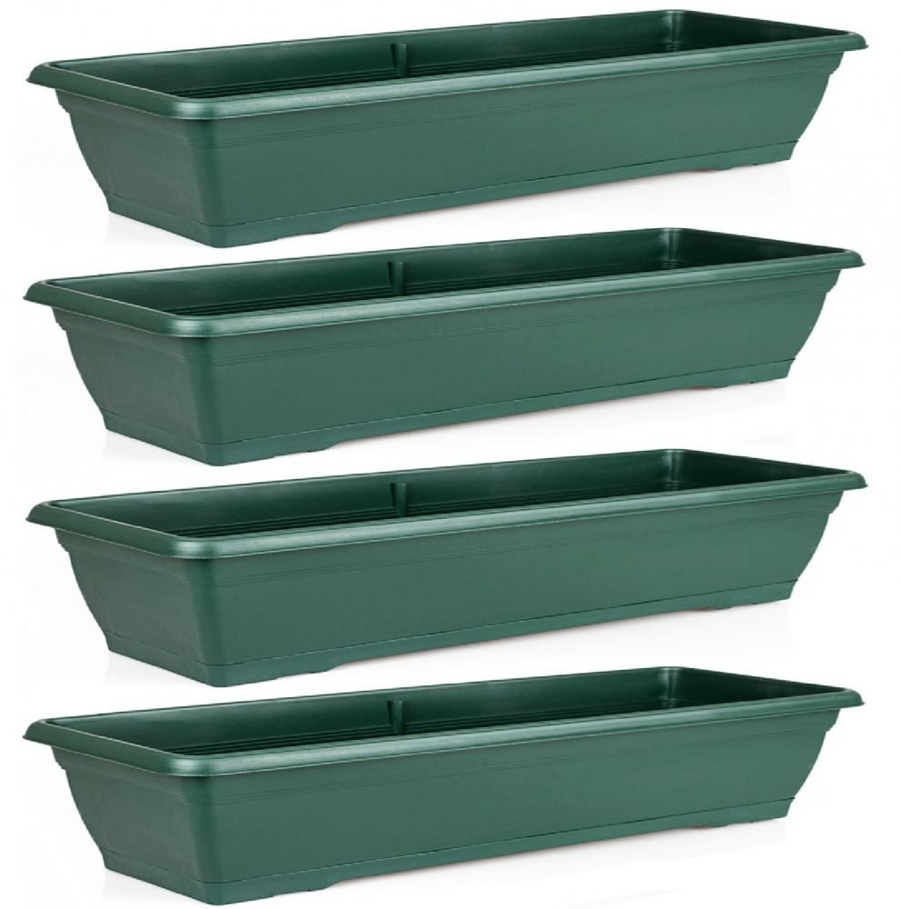 large 72cm garden plastic trough balcony planter flower plant pot tub window box ebay. Black Bedroom Furniture Sets. Home Design Ideas