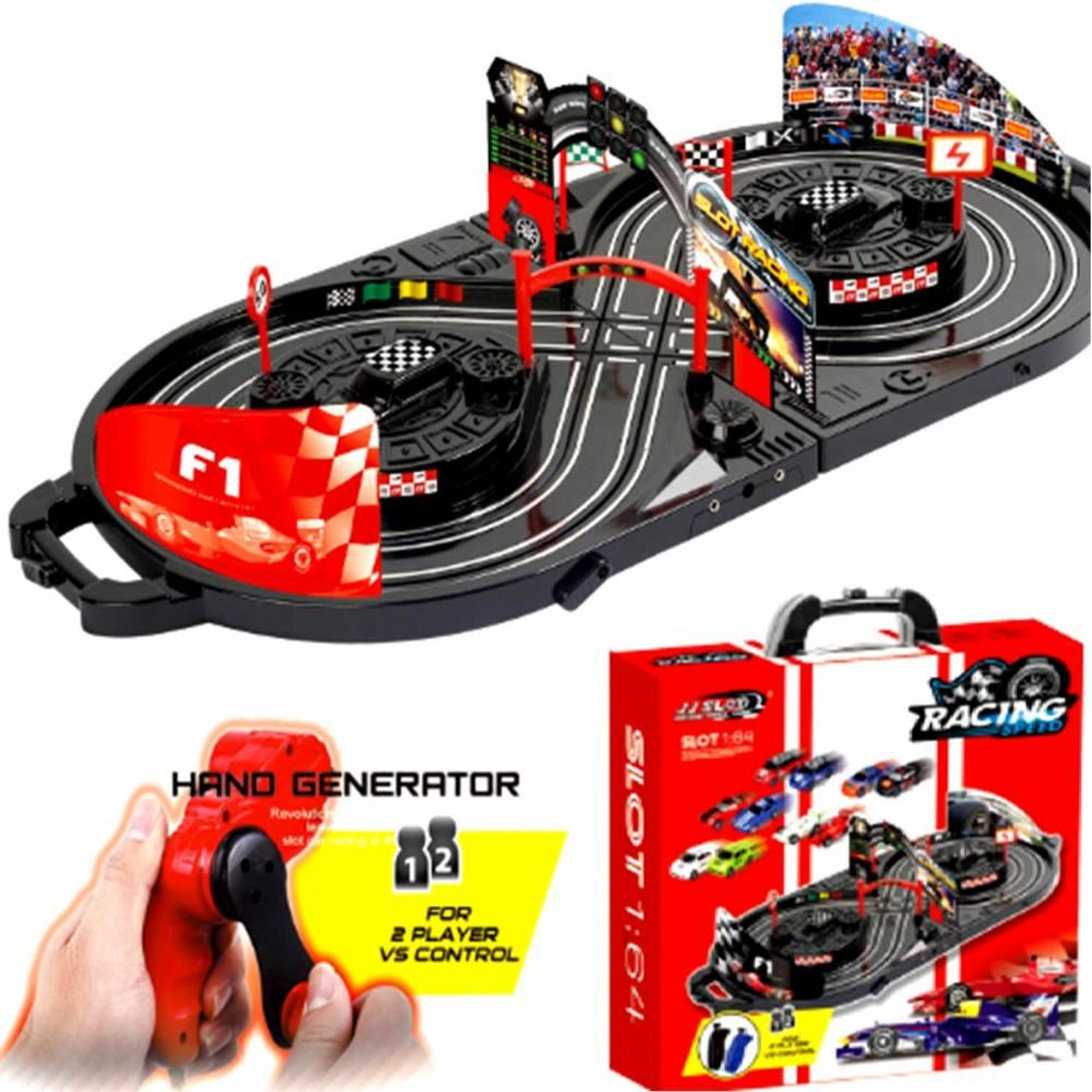 Toy Car Track : Manual control slot car racing track kids toy childrens
