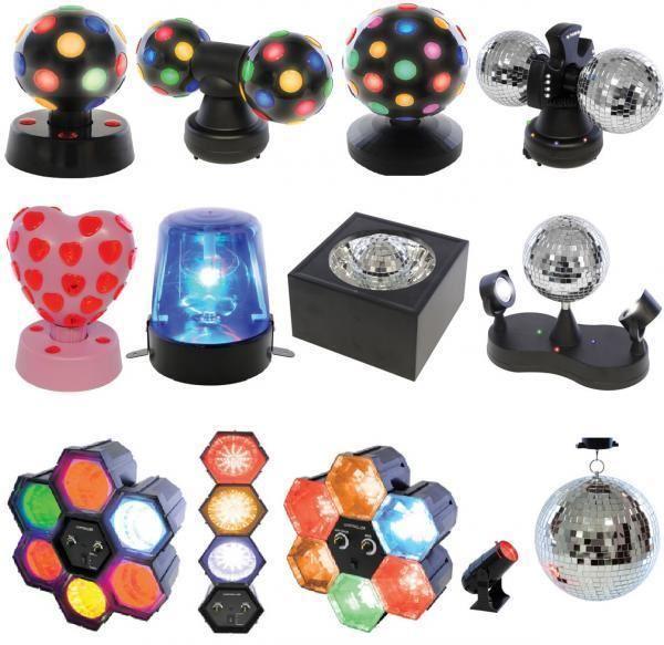 Lloytron Dj Disco Twin Ball Lighting Xmas Party Mirror Led Rotating Light Lamp Ebay