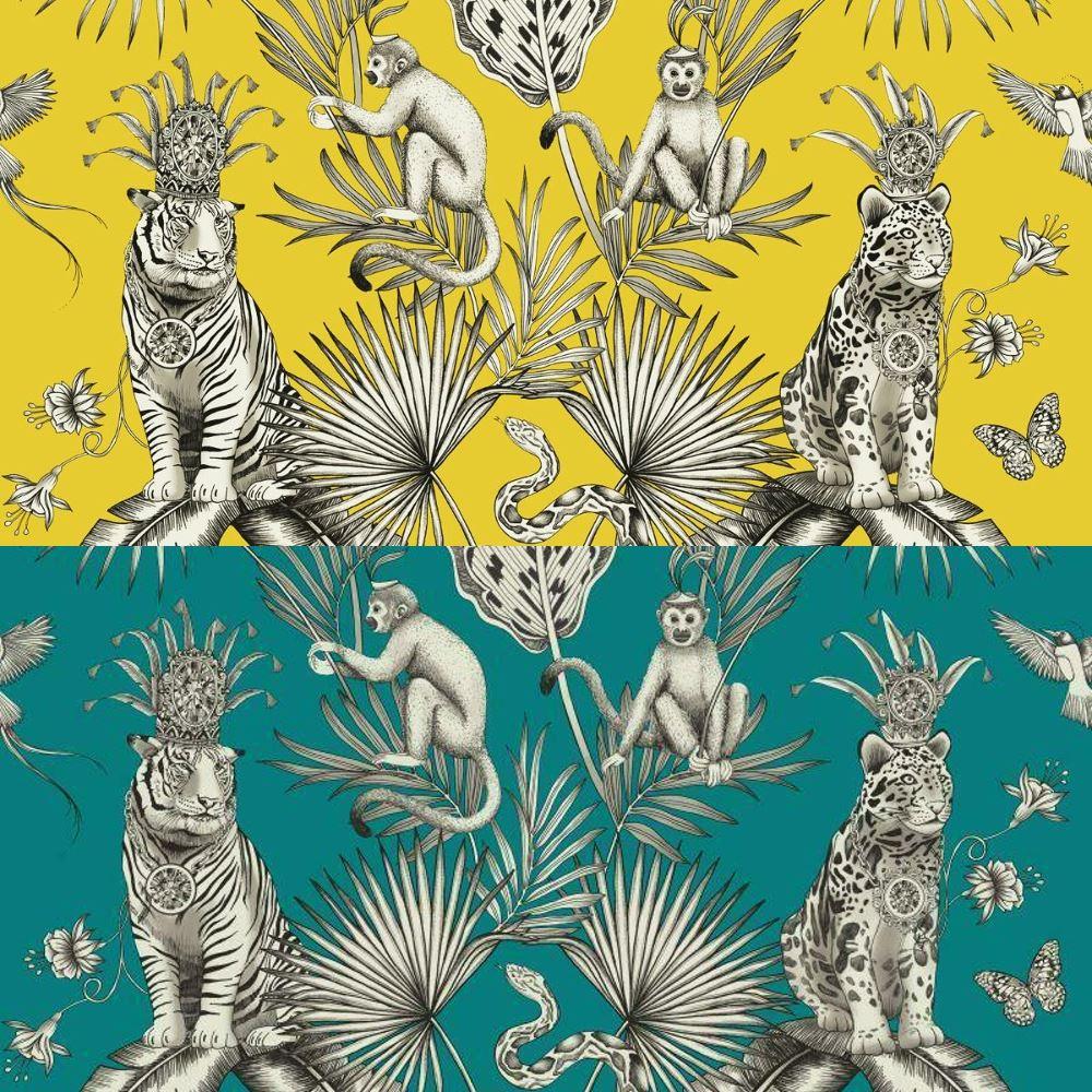 Details About Belgravia Menagerie Tropical Plants Exotic Animal Print Tiger Birds Wallpaper