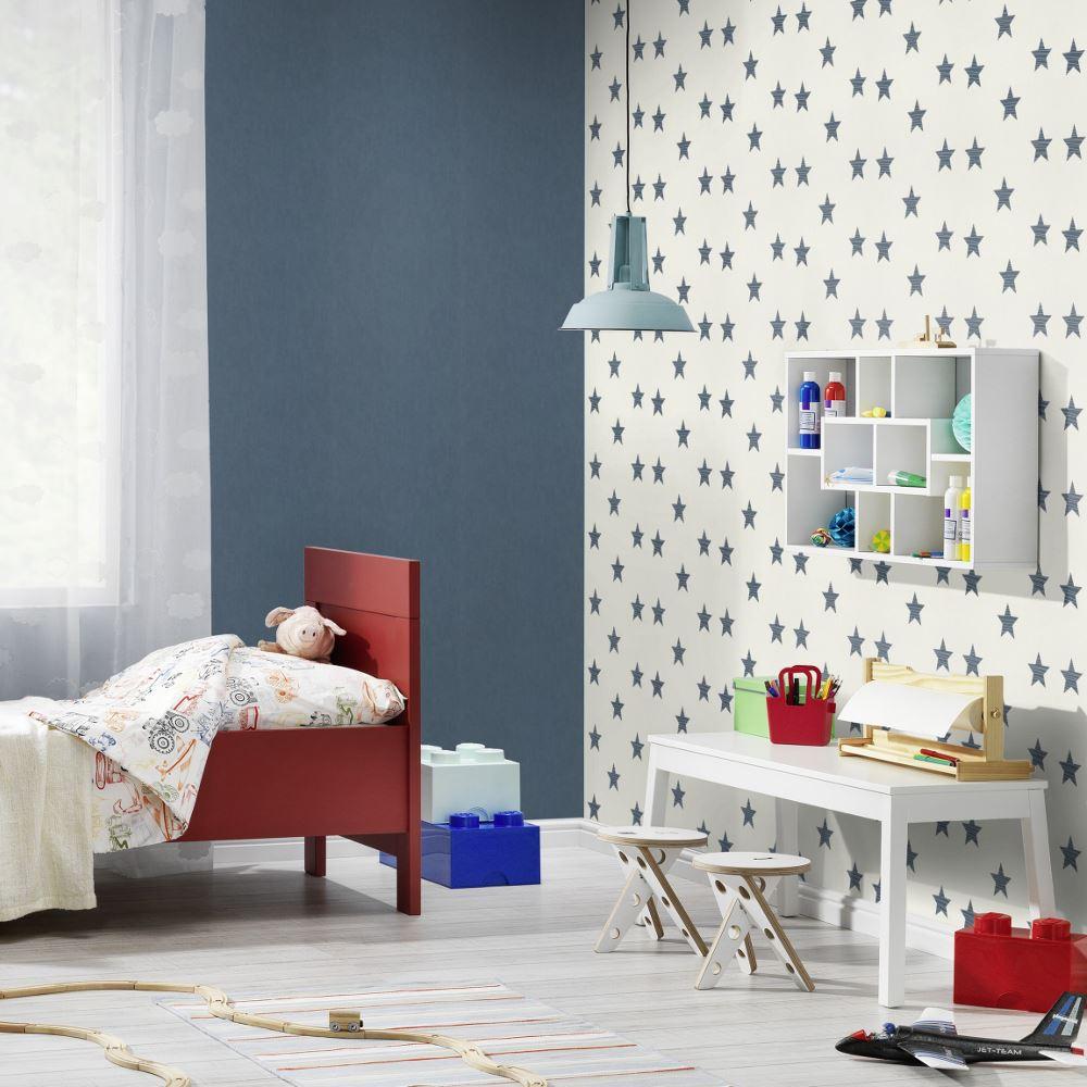 Rasch Sternmuster Kinder Tapete Kinderzimmer Streifen Motiv Texturiert