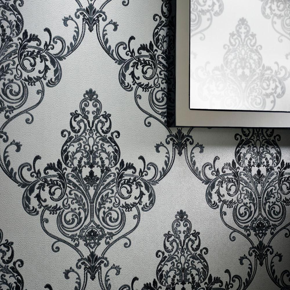 arthouse valdina vintage motif damas papier peint vinyl texturé à