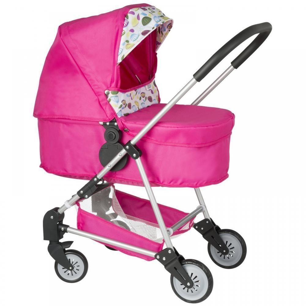 Mamas Amp Papas Urbo 3 In 1 Girls Dolls Pram Pink Folding