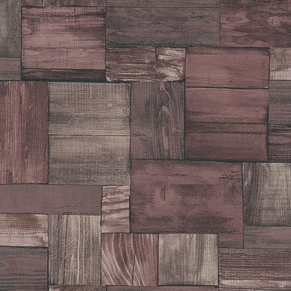 Erismann Wooden Block Pattern Wallpaper Faux Wood Effect