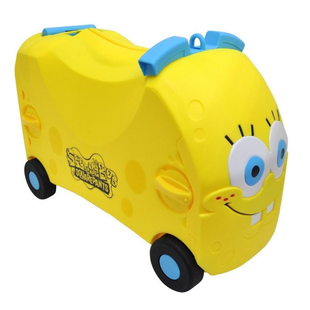 spongebob toddler ride on car childrens kids infant pull along toy box xmas gift
