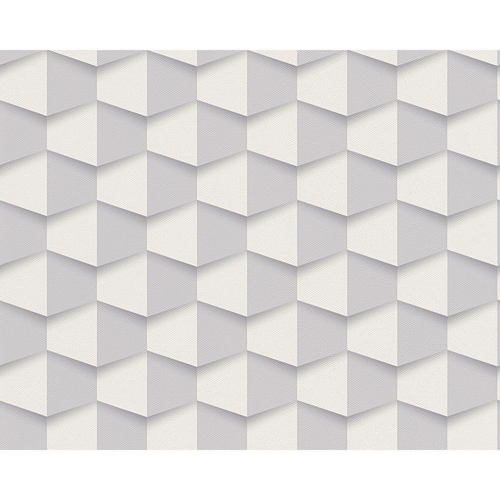 NEW AS CREATION SQUARE PATTERN 3D EFFECT ABSTRACT TEXTURED ...