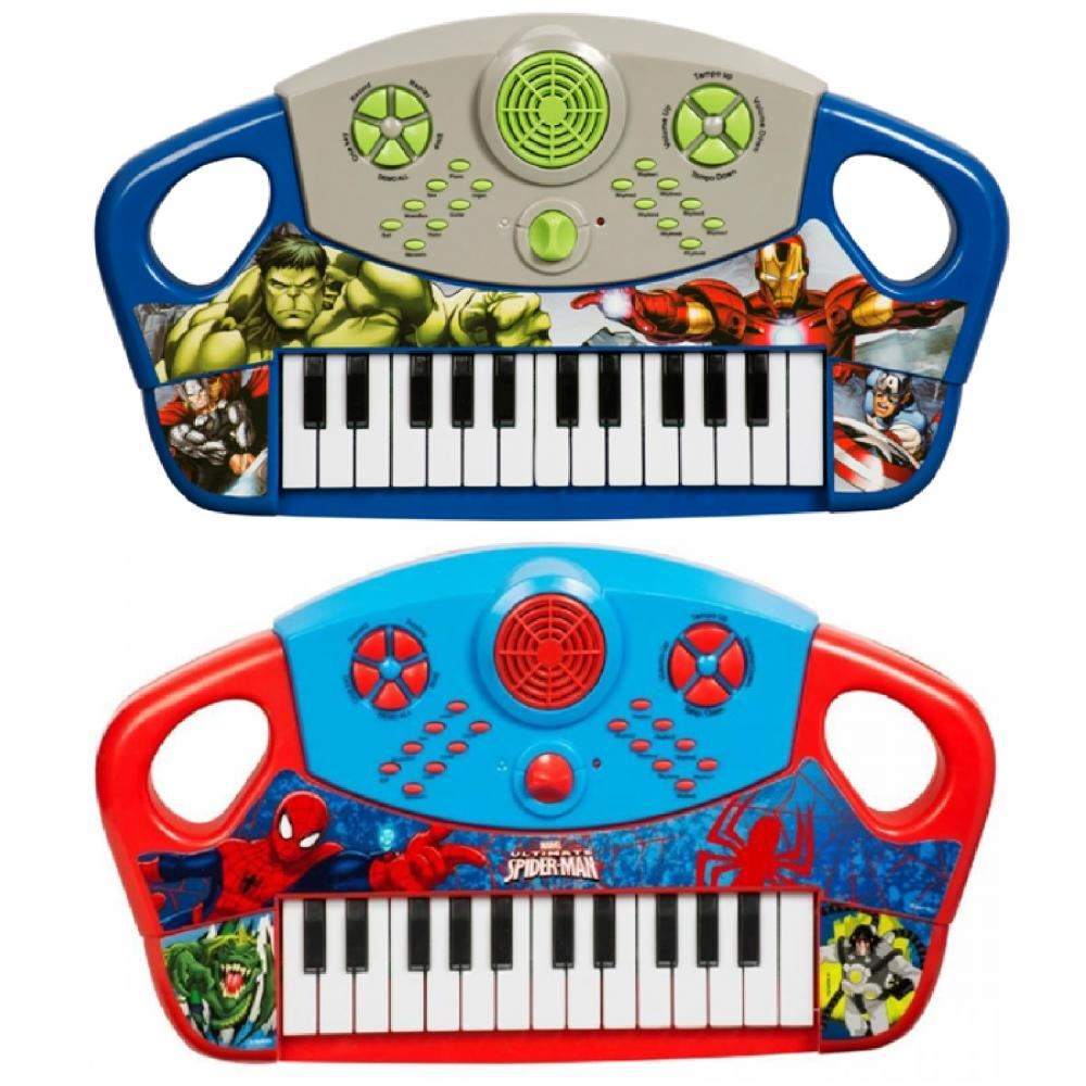 MARVEL COMICS SPIDERMAN ELECTRONIC KEYBOARD MUSICAL PIANO KIDS TOY INSTRUMENT