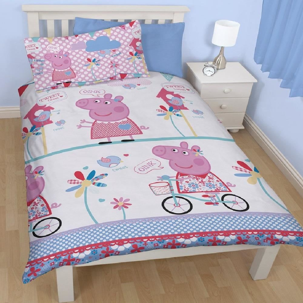 Lyckoax Duvet Cover And Pillowcase S White Lilac: CARTOON CHARACTER SINGLE DUVET SET QUILT COVER KIDS