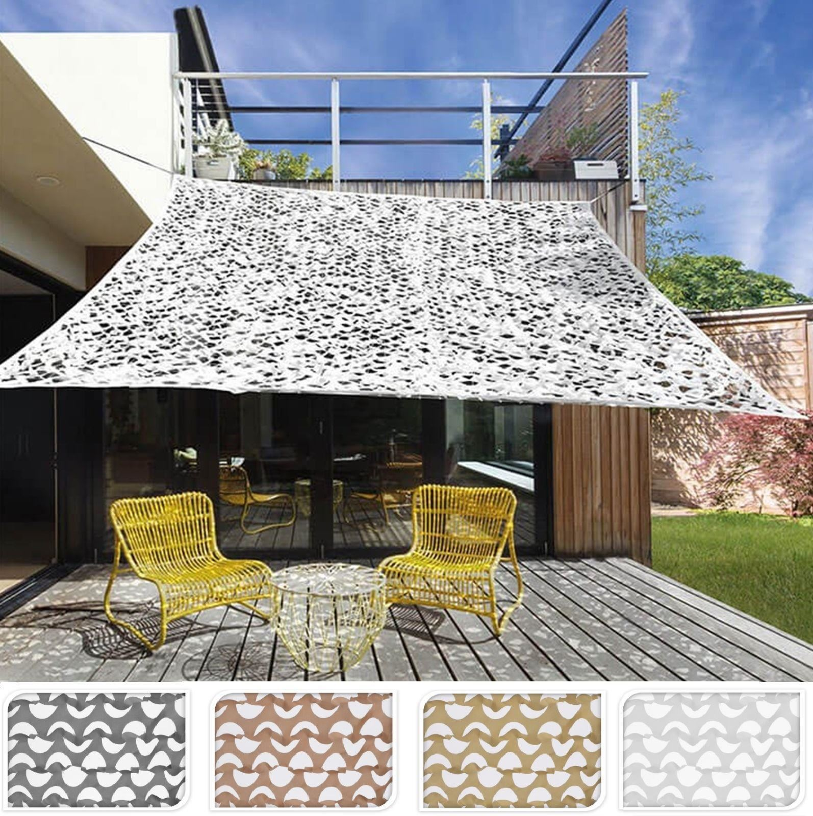 outdoor camouflage sun shade sail canopy cover cloth. Black Bedroom Furniture Sets. Home Design Ideas