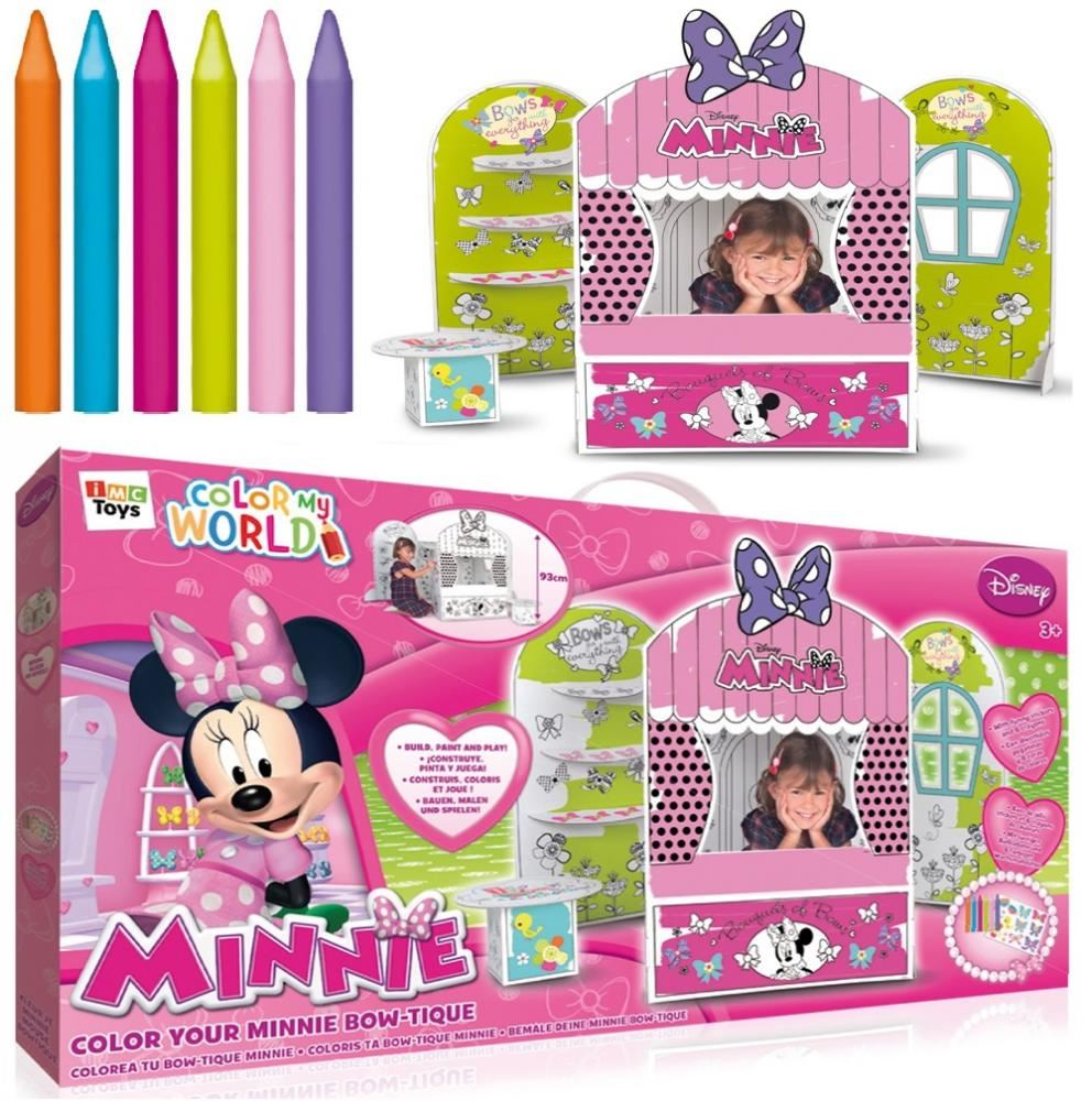 DISNEY MINNIE MOUSE COLOUR MY BOW-TIQUE YOUR OWN GIRLS SHOP TOY ...